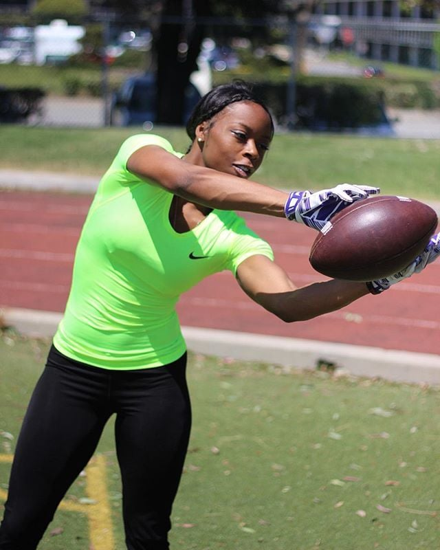 "Toni Harris - American Football PlayerShe is on the way to be the first woman to play in the NFL. She is currently ""the first woman who has signed a letter of intent to attend college on a full football scholarship."" She also appeared in this year's Toyota Super Bowl commercial paving way to all women that would want to enter the football field.Learn More"