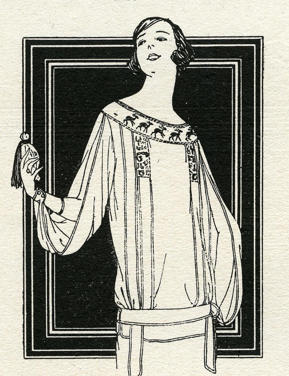 """Femme au flacon, PRINTEMPS de Paris, catalogue """"Dernières nouveautés été/summer 1923, Illustration Benito"""