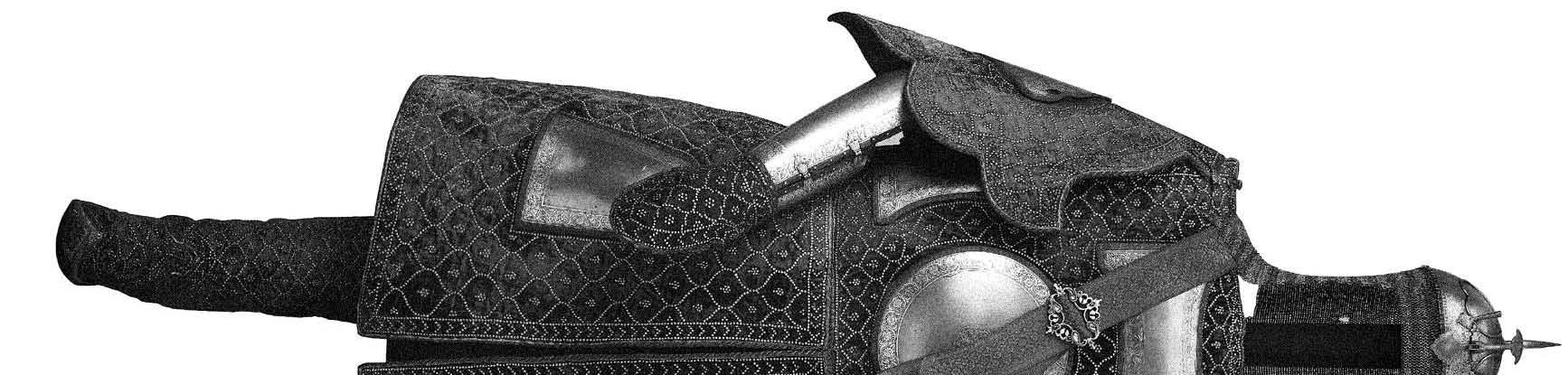 Armure orientale complète avec bottes hautes. De Lahore,Inde, 1770 Courtesy of Trustees of the Wallace Collection, London