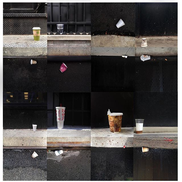 New Collage Project 😀  The Single-Use Foam Ban in NYC started a week ago (😍), Now playing with the other 500 Billion disposable cups...