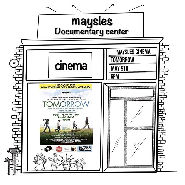 After the screening of the award winning documentary #Tomorrow ( #Demain) I will be speaking about #zerowaste lifestyle this Wednesday May 9th at Meysles Cinema Harlem and discuss about #sustainability in New York with  Senator Robert Jackson, Stephan Roundtree from @WeAct and Alexis Buisson from @Frenchmorning.  Tickets in Bio