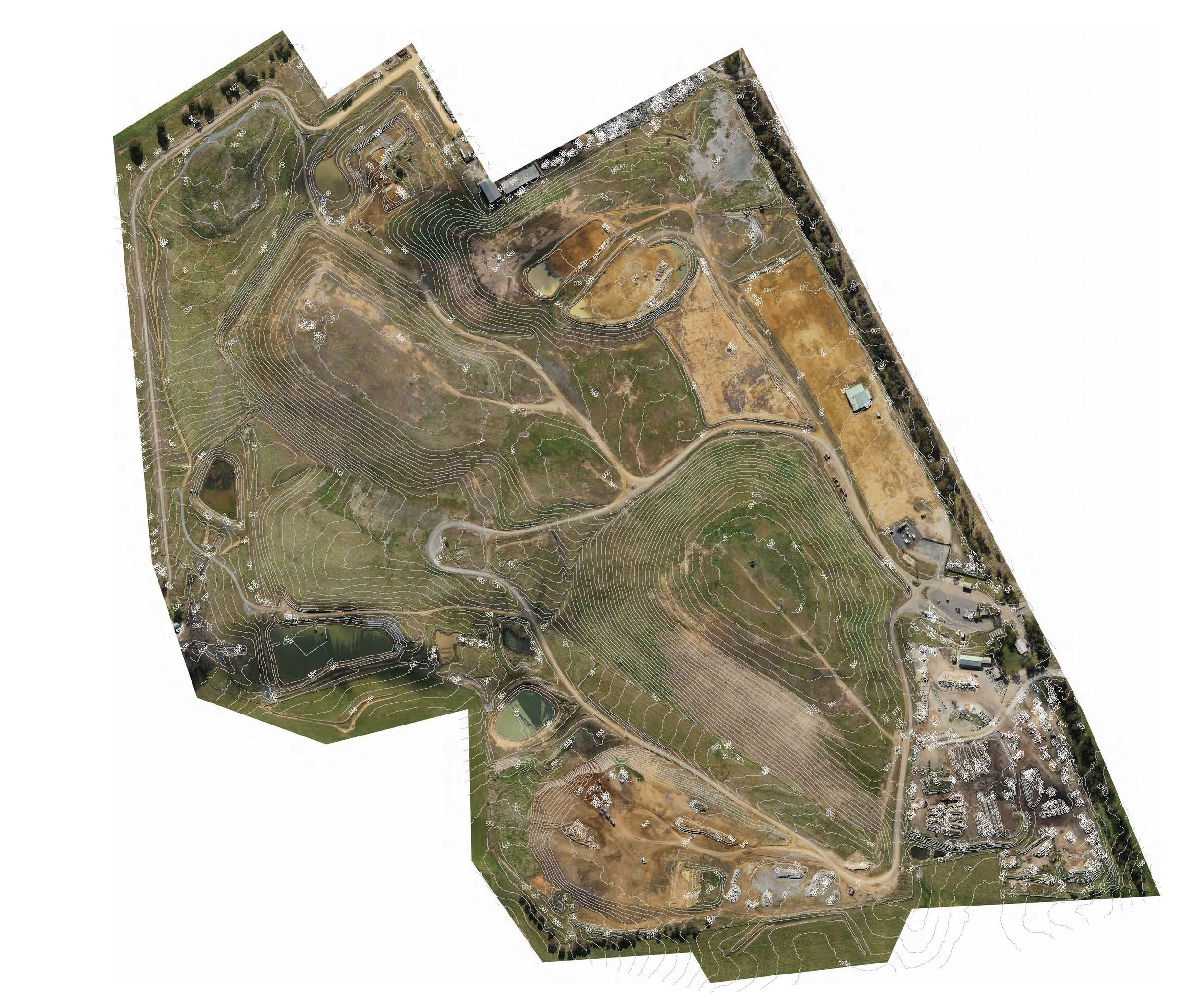 High resolution Orthophoto with 1 metre contourS