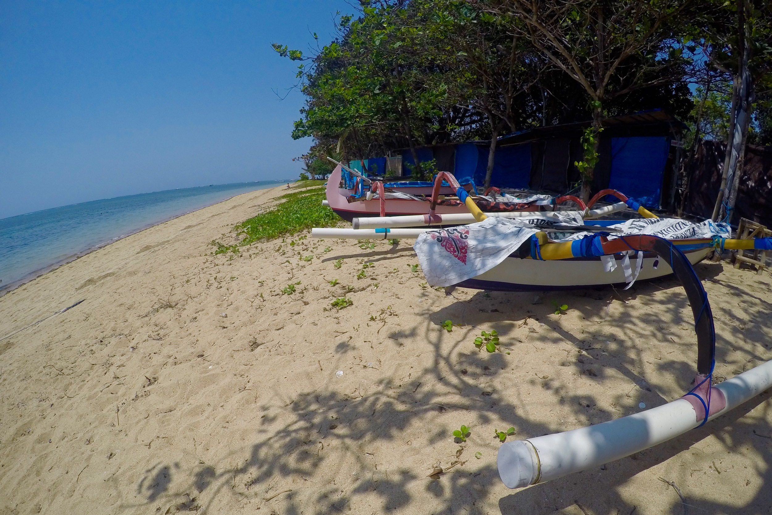 Balinese fishing boats have become iconic Sanur for me. © 2015 Gail Jessen, A Series of Adventures