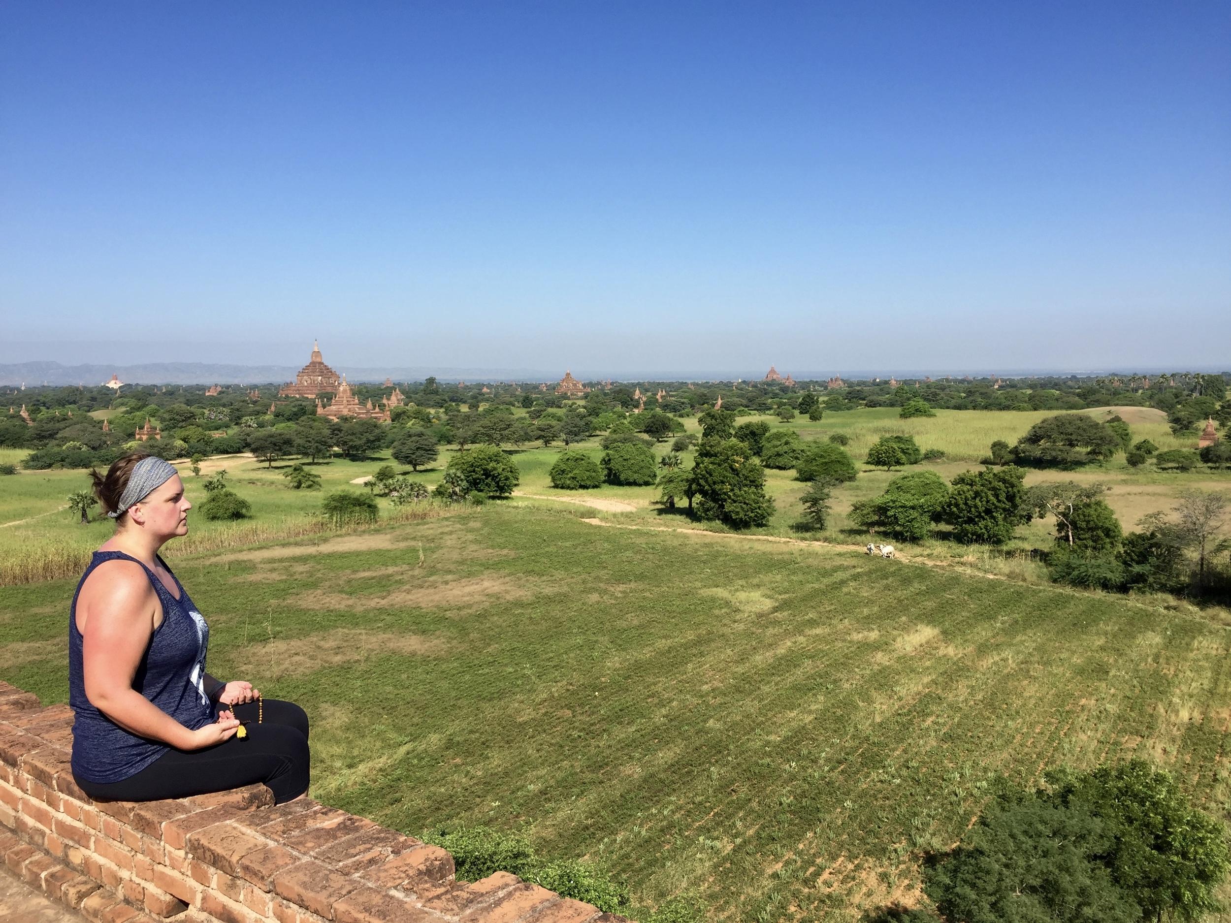 Taking in the view in Bagan, Myanmar. © 2015 Gail Jessen