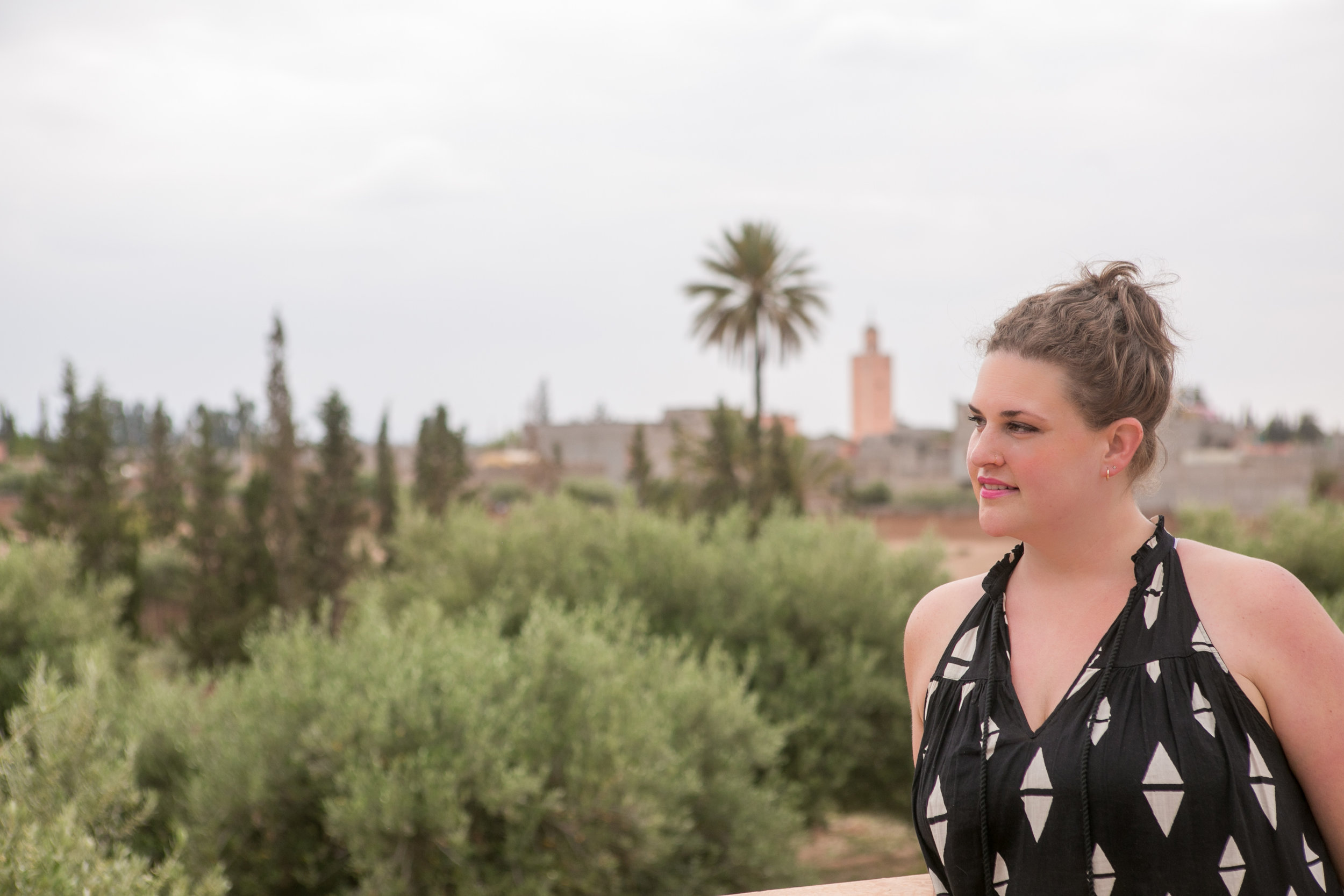 On a Moroccan rooftop in May 2016. Naturally. © 2016 Gail Jessen, A Series of Adventures