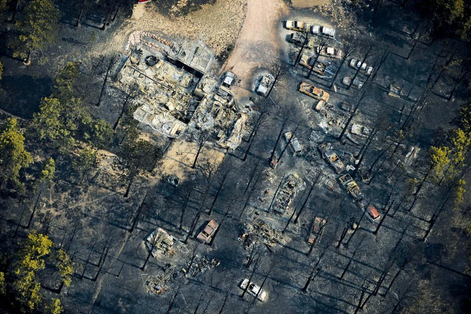 Damage from the east edge of the Black Forest Fire is seen on June 13, 2013 in Colorado Springs, Colo.     JOE AMON/THE DENVER POST/GETTY