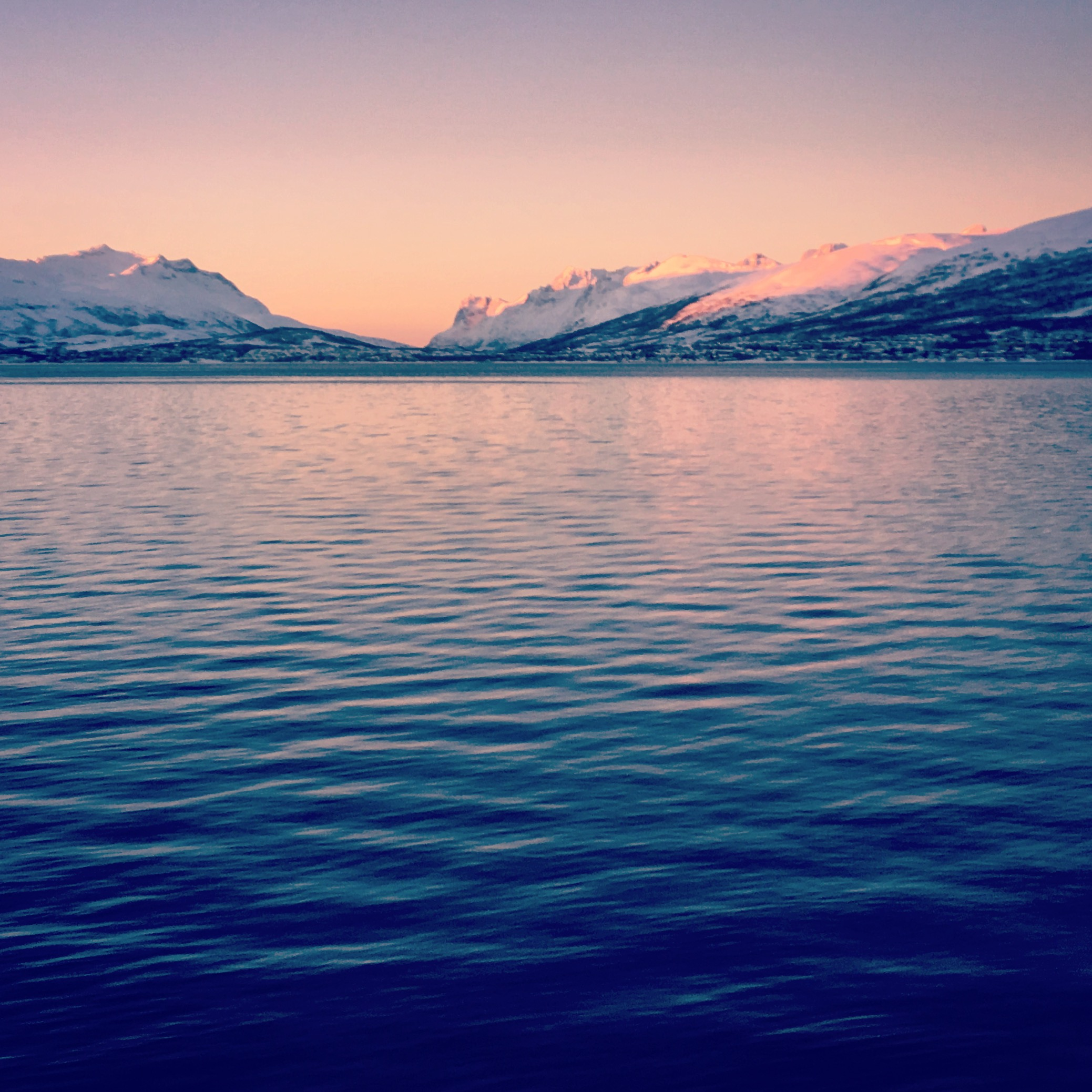 Sunset in Tromsø
