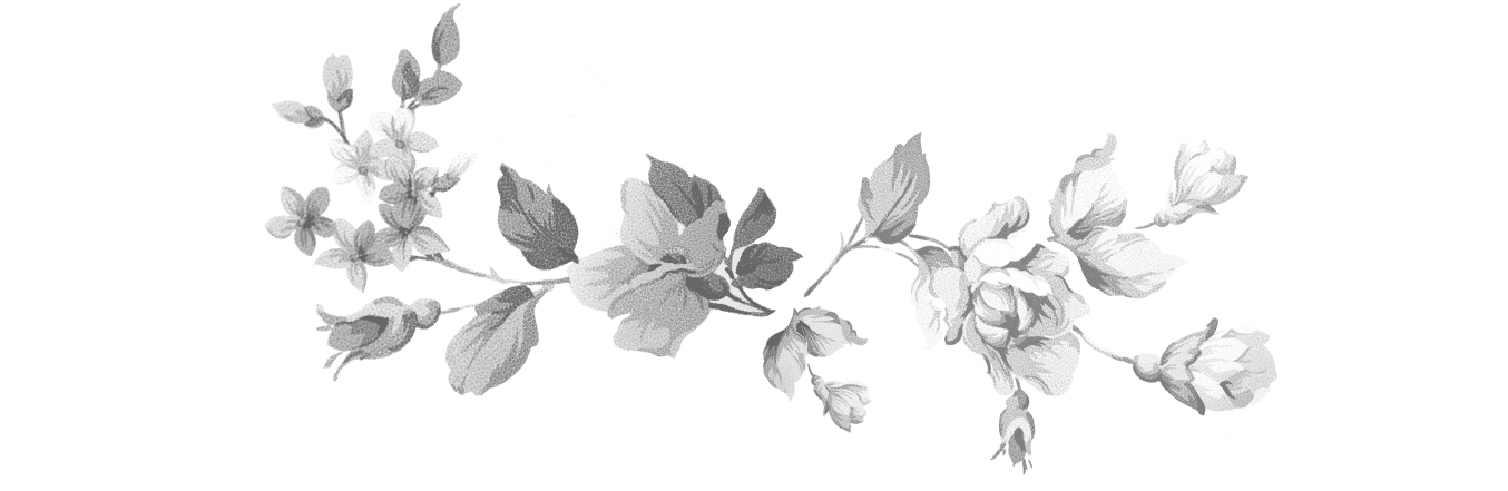 Black and White Floral image