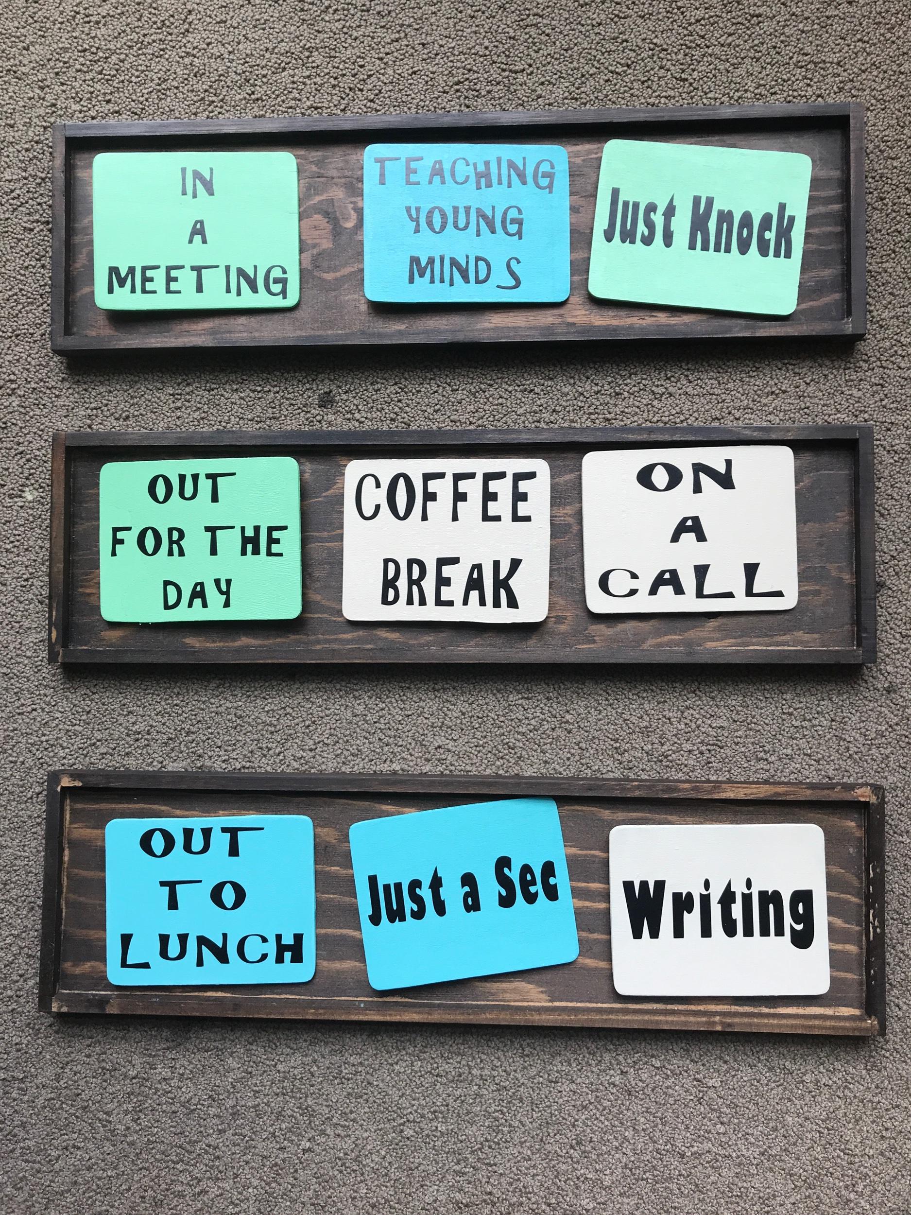 Signs for door