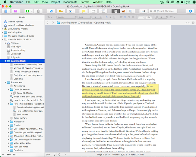 scrivener for mac and iOS work well together
