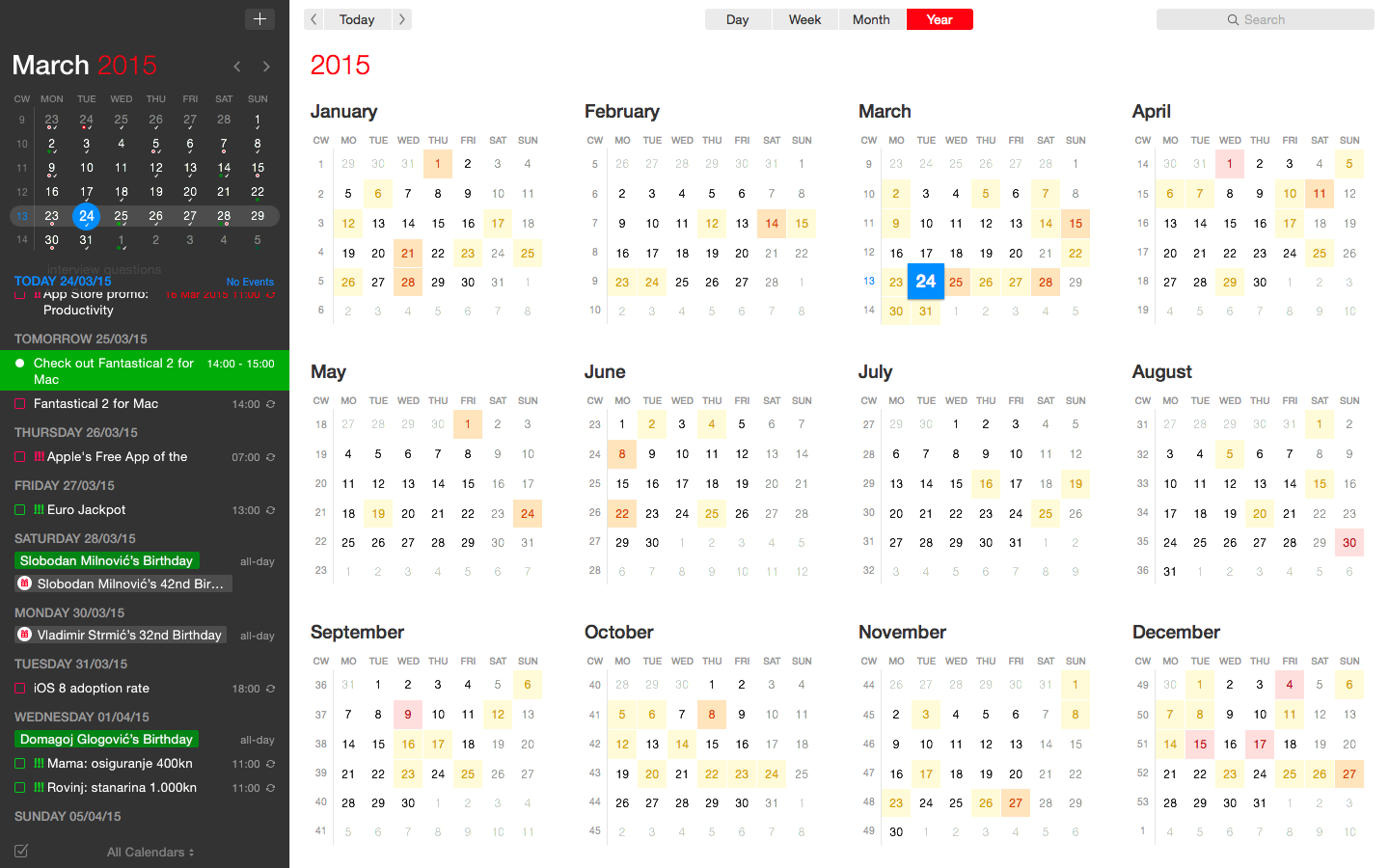 Fantastical keeps scheduling easy and efficient
