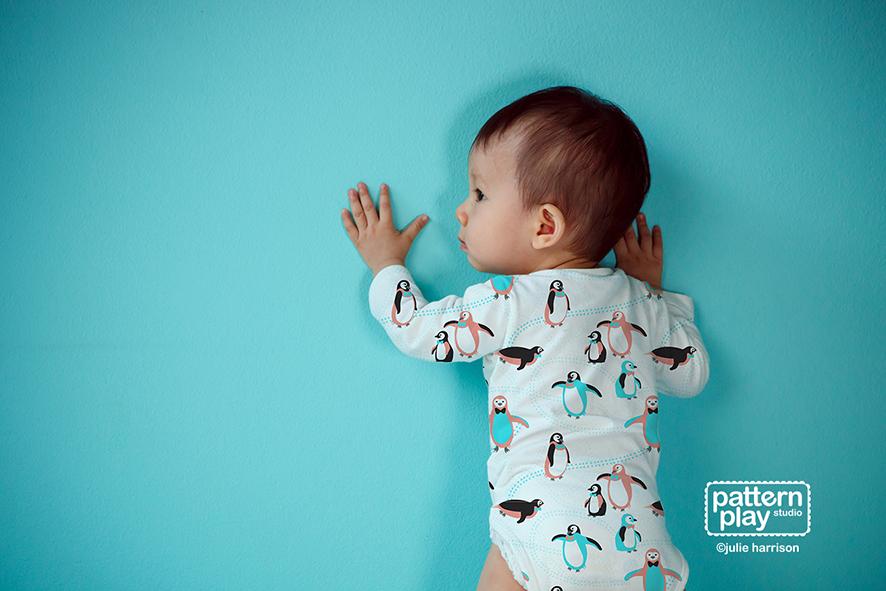 A cute onesie for a cute little one.