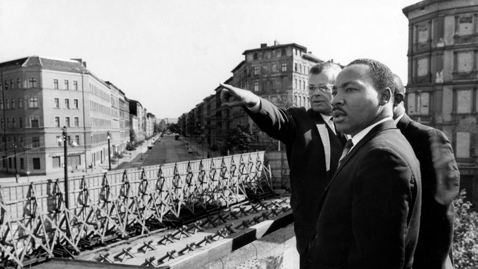 Dr. Martin LutherKing Jr. in Berlin in 1964  Source: Getty