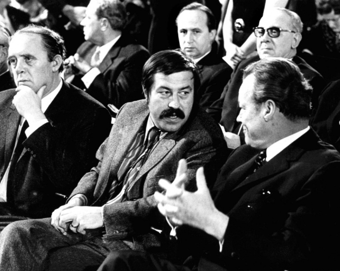 The Trinity of post war German Social Democracy, from left to right: Heinrich Böll, Günter Grass, Willy Brandt     Photo: DICK/EPA
