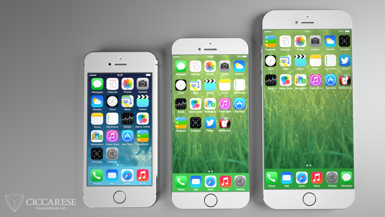 iPhone-6 Concept Art 5.5 and 4.7 inch screen