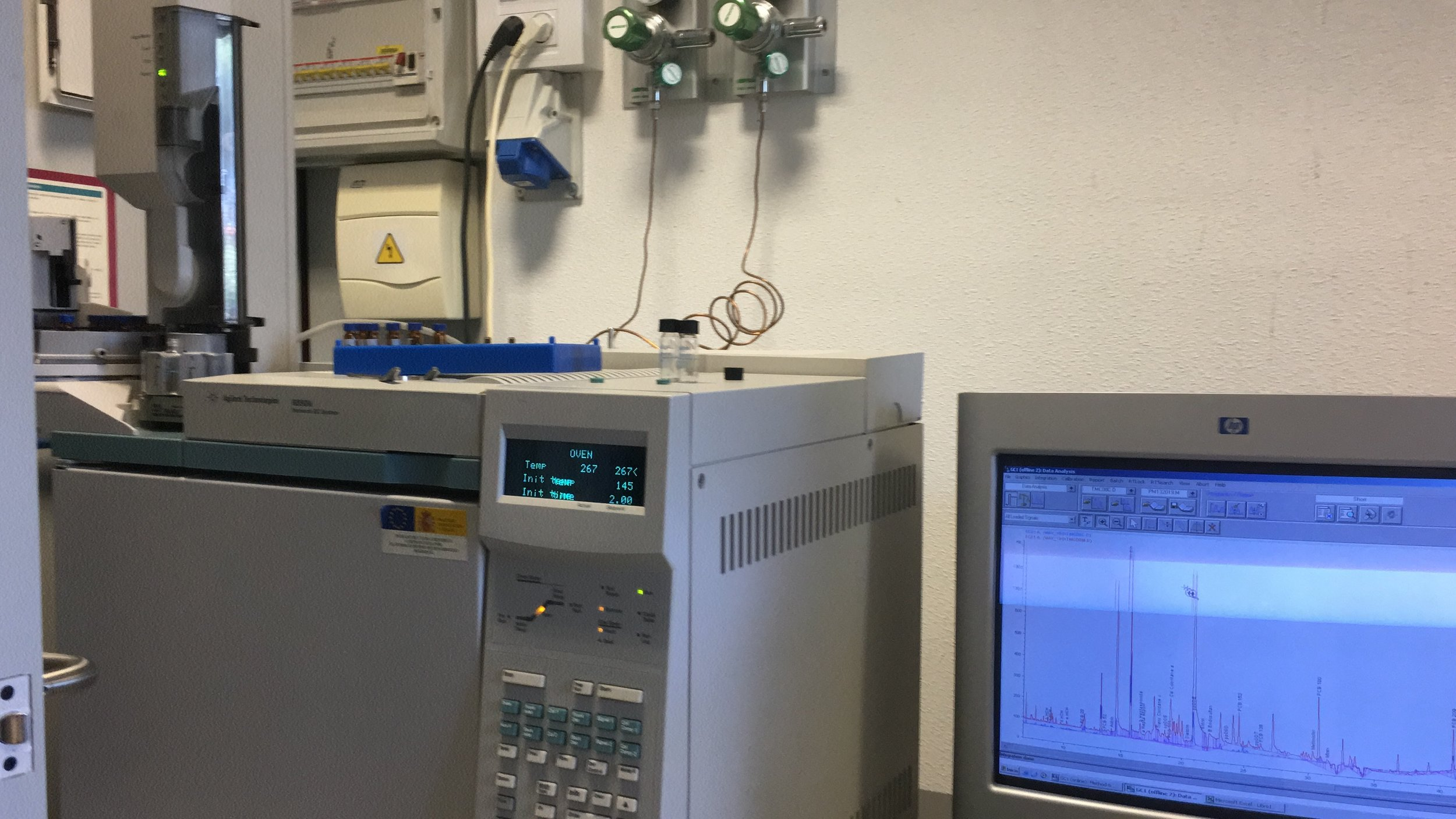 GC-ECD and chromatograph