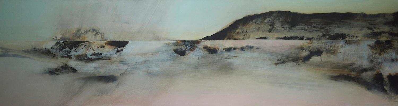 Borrowed Light  , 2013, acrylic on canvas, 61 x 230cm