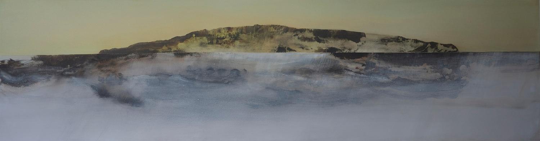 Borrowed Light II  , 2013, acrylic on canvas, 61 x 230cm