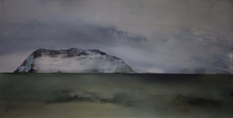 Fading Shadows  , 2013, acrylic on canvas, 103 x 197cm