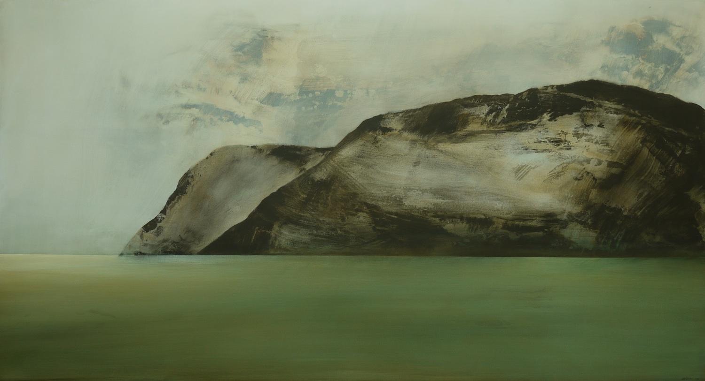 A Silent History  , 2013, acrylic on canvas, 118 x 217cm