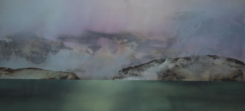Liquid Light of Day  , 2013, acrylic on canvas, 136 x 290cm
