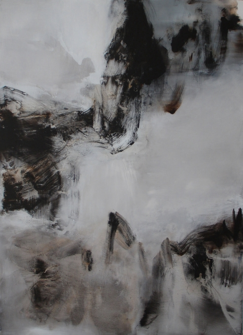 Reflections of a Mirrored Sky  , 2007, acrylic on canvas, 180x 130cm