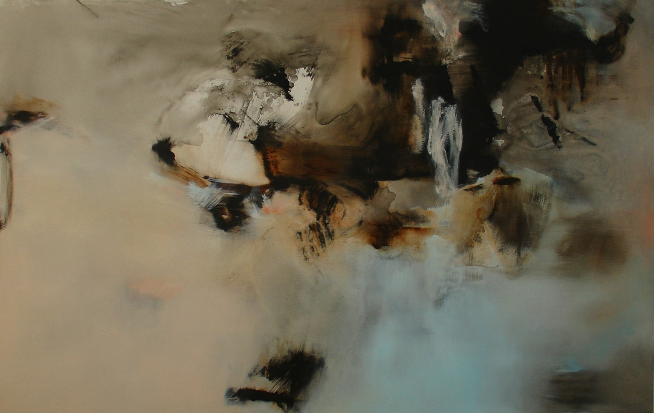 Blush, The Morning After  , 2007, acrylic and Chinese ink on canvas, 140x 220cm