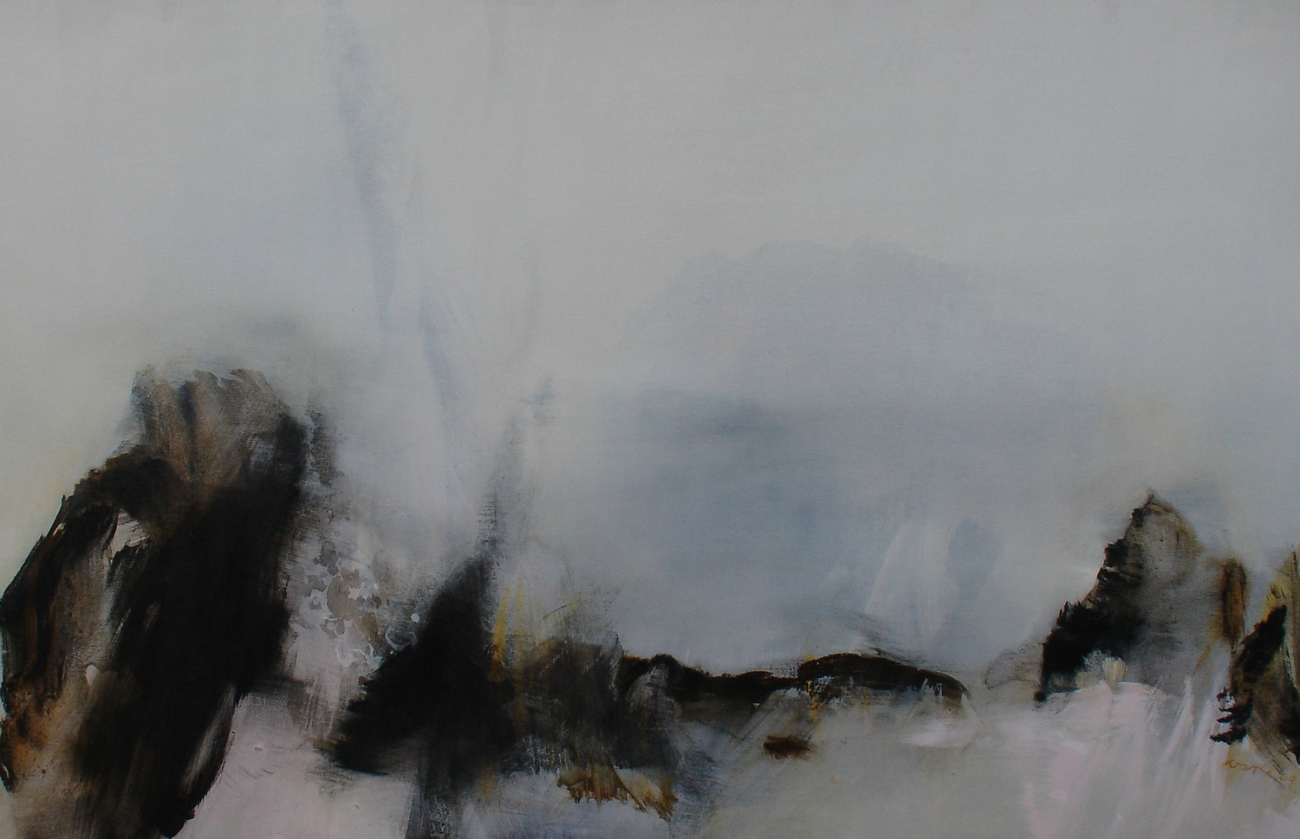 Whispers of Burnished Gold  , 2009, acrylic on canvas, 80x 122cm