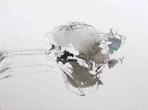 Winter  , 2007, Chinese ink and graphite on paper, 18x 24cm