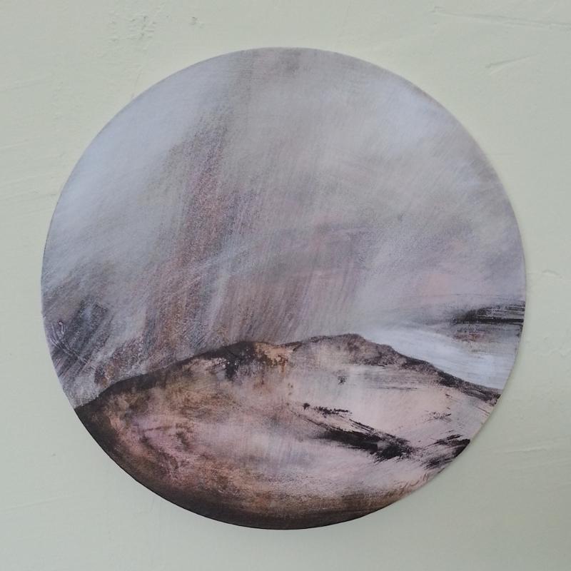 Gaze II  , 2014, acrylic on canvs, diameter 40cm