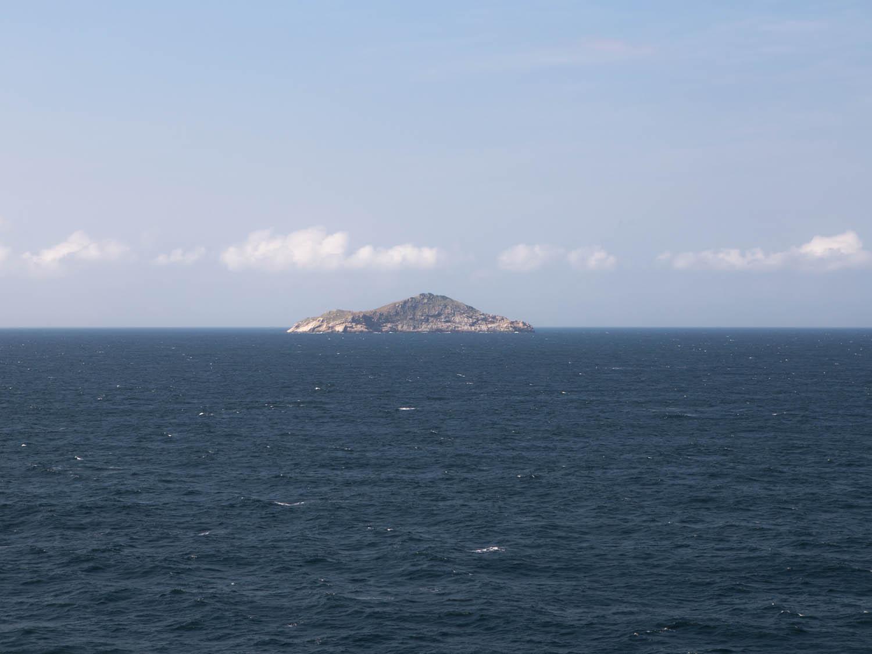 An Island during sailing on South China Sea, en route Hong Kong.