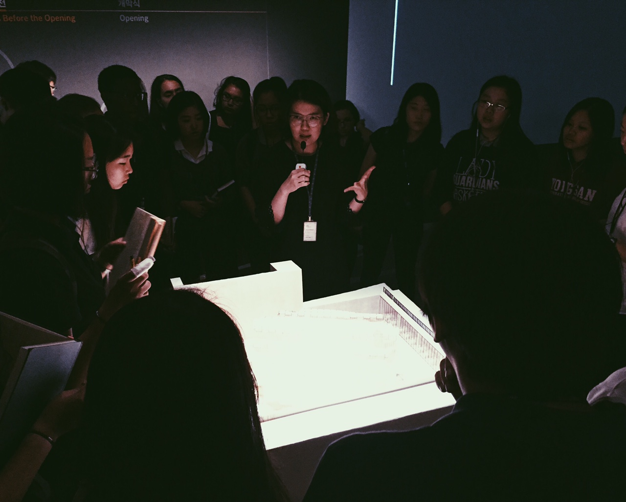 AP Design students on a guided tour at the Museum of Modern + Contemporary Art.