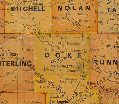 Coke County, Texas USA