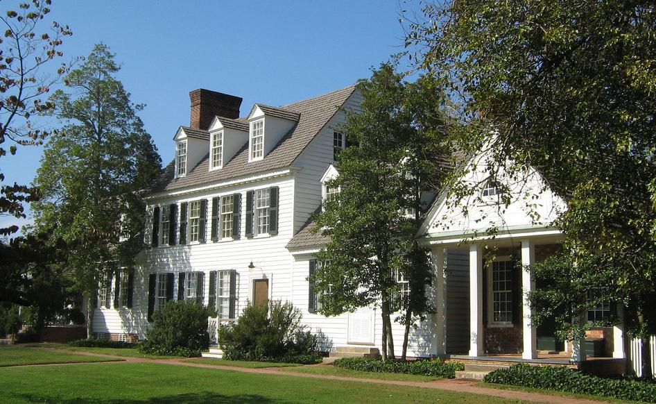 The Coke Garrett House, Williamsburg Virginia USA built in 1755 by John Coke