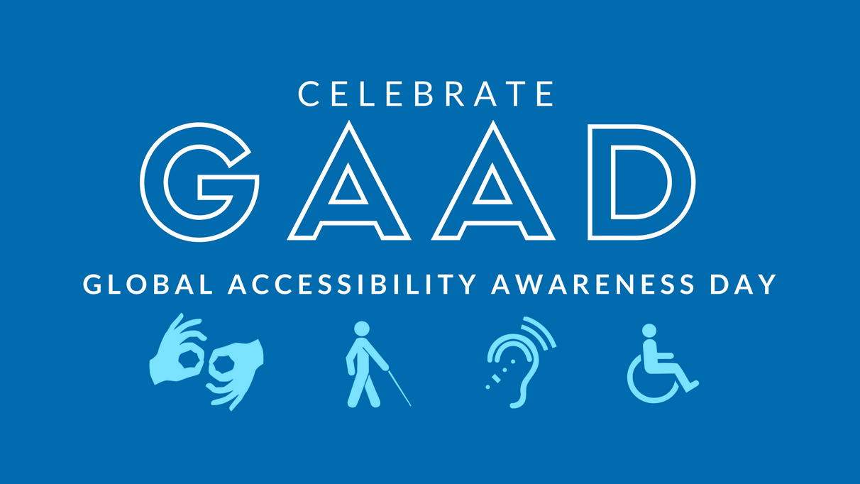 Logo for Global Accessibility Awareness Day