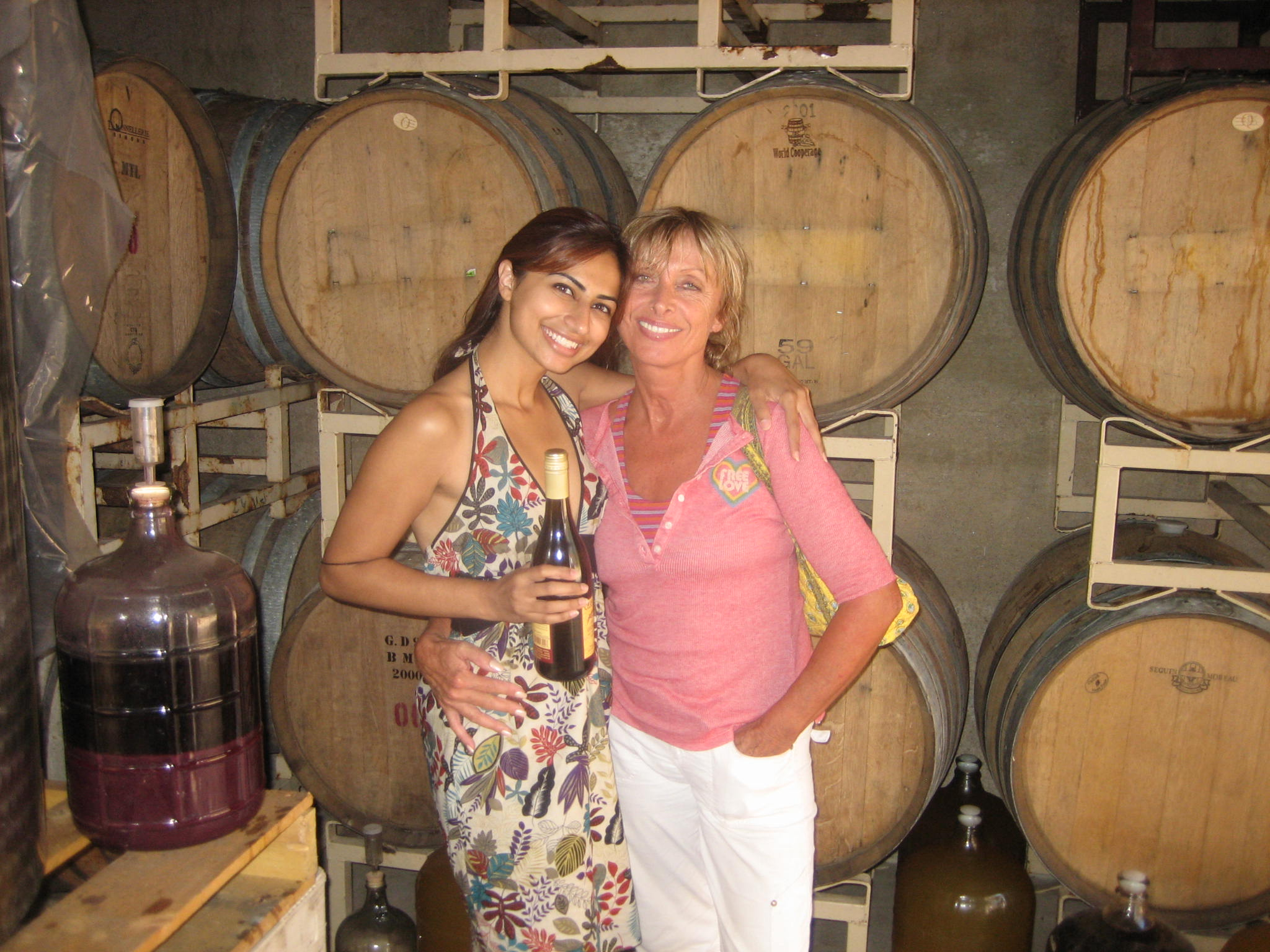 Eva and I at the winery which was on the Casa Barranca property