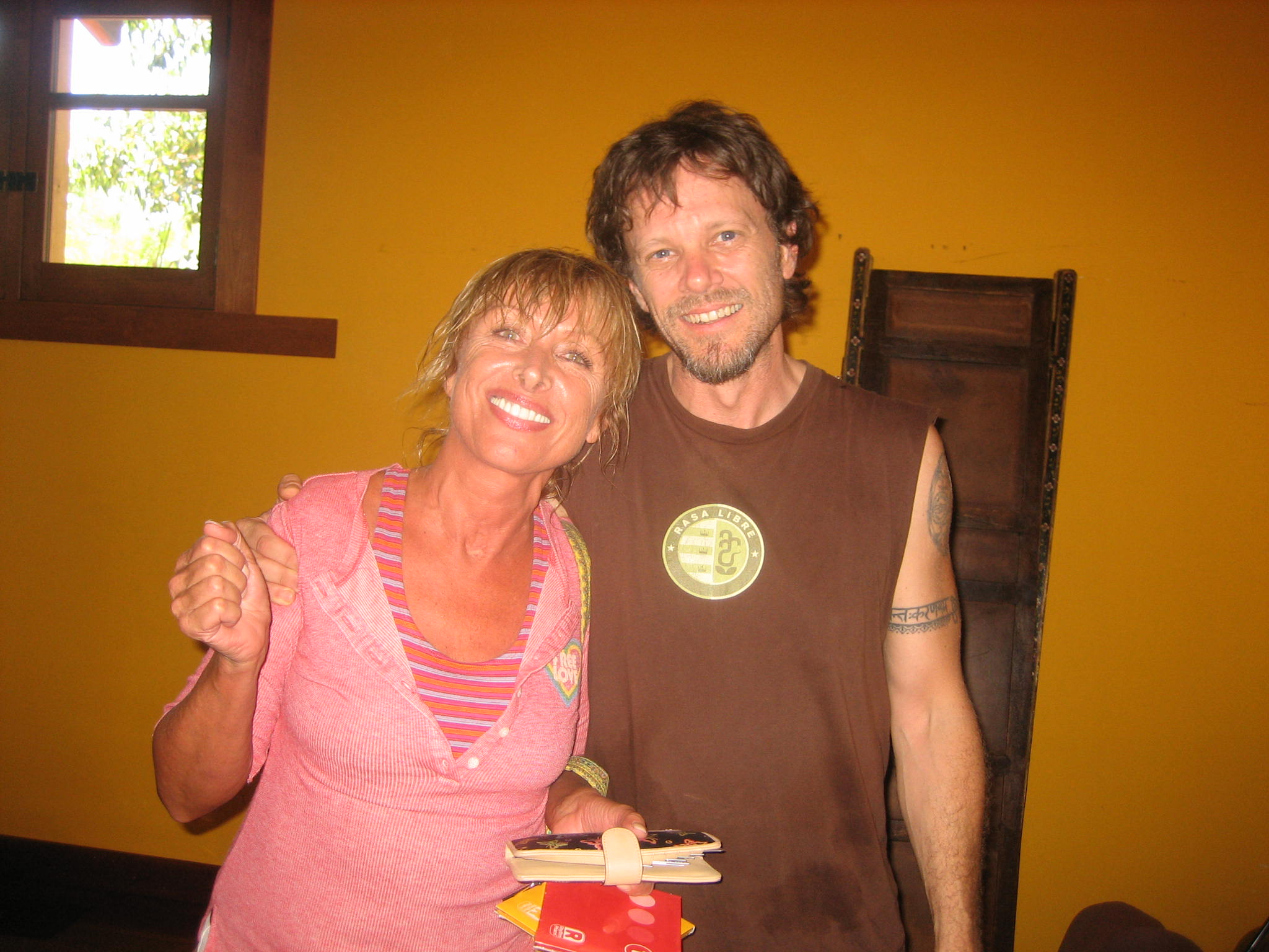 Eva with one of our Musicians at the retreat