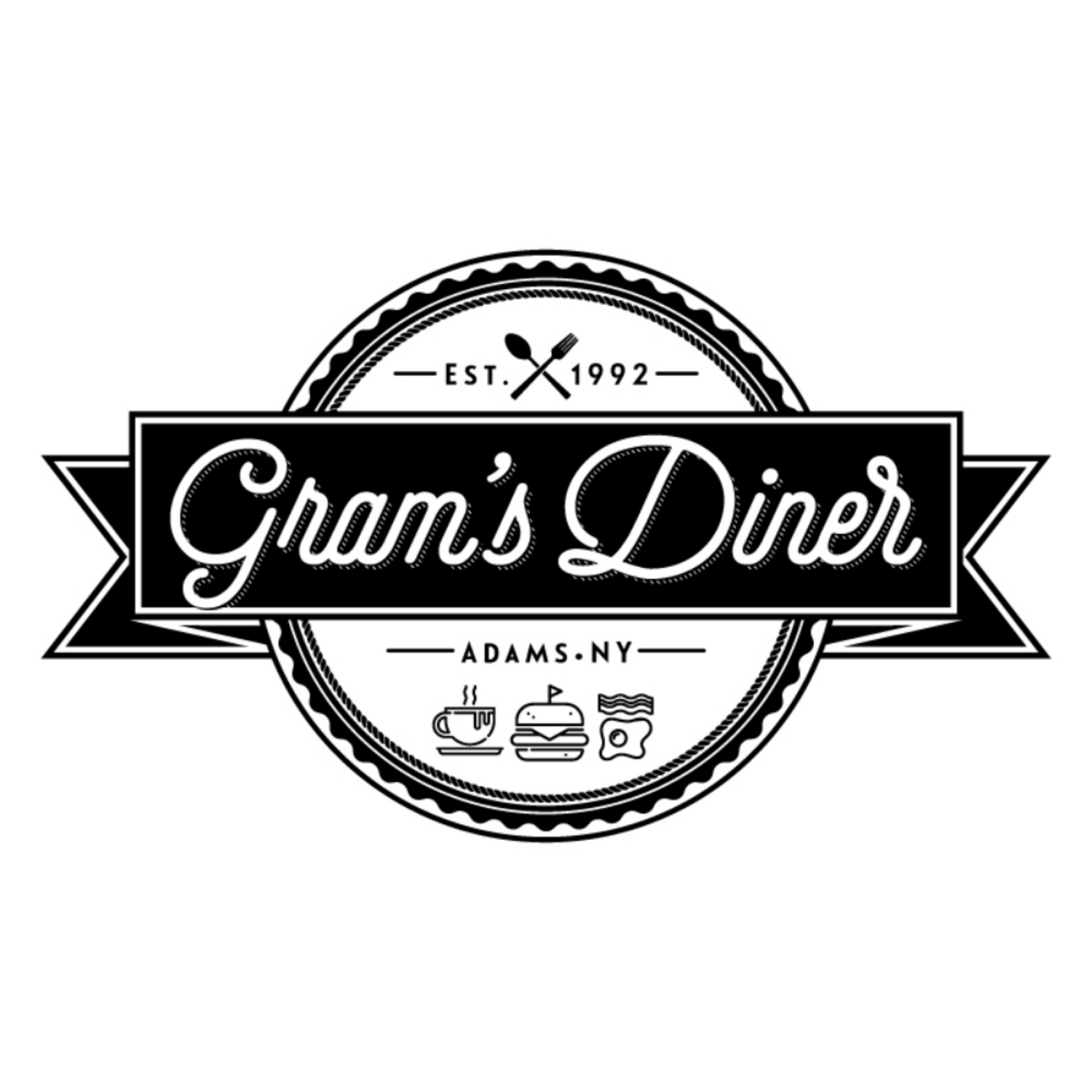 Gram's Diner   Gram's Diner is a hometown eatery in downtown Adams, New York. Located right on Main Street, Gram's serves the best breakfasts, lunches and dinners in Southern Jefferson County at family-friendly prices.
