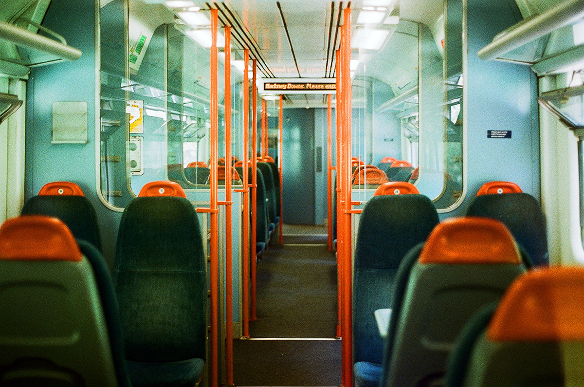 Empty train from Cambridge Heath