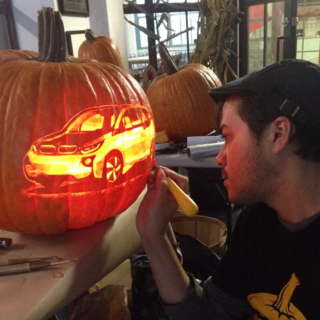 Carving BMW's i3 Hybrid for an electric campaign