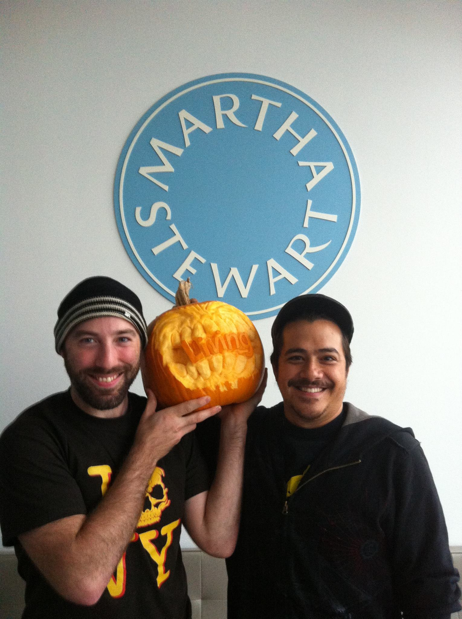 Maniac at the MS headquarters carving for Martha Stewart Living