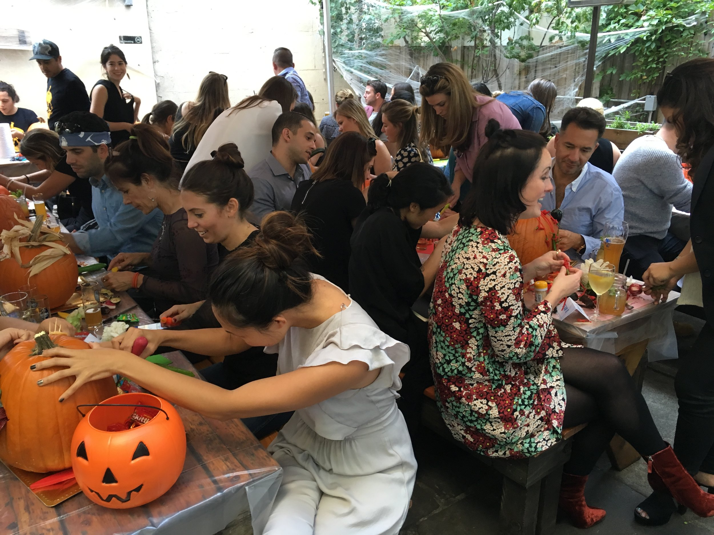 Corporate team building activities are a blast when Maniac Pumpkins are involved!  With years of art teaching experience across a variety of mediums, our artists will help you to improve your pumpkin carvings and unlock your inner creativity. Classes and activities can be adapted for artists at any skill level, from beginner to professional.