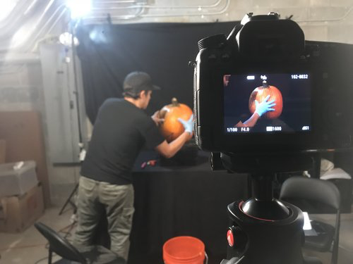 Time lapse and other video content are a great way to experience more of the magic behind Maniac Pumpkins.  Check out a selection of our past time lapse videos or contact us to now to discuss booking a project. Our in house photographers can capture the pumpkin process, or our carvers can travel to your studio. Lets make some amazing content together!