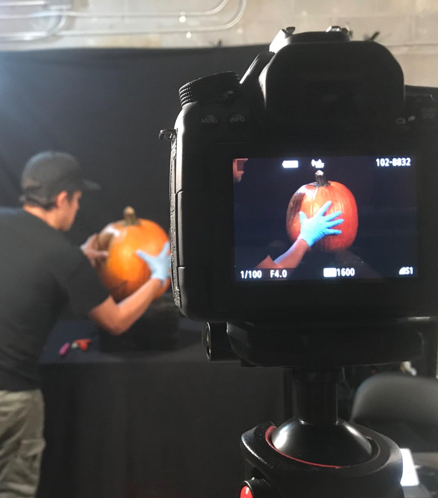 Chris Soria prepping for a shoot.