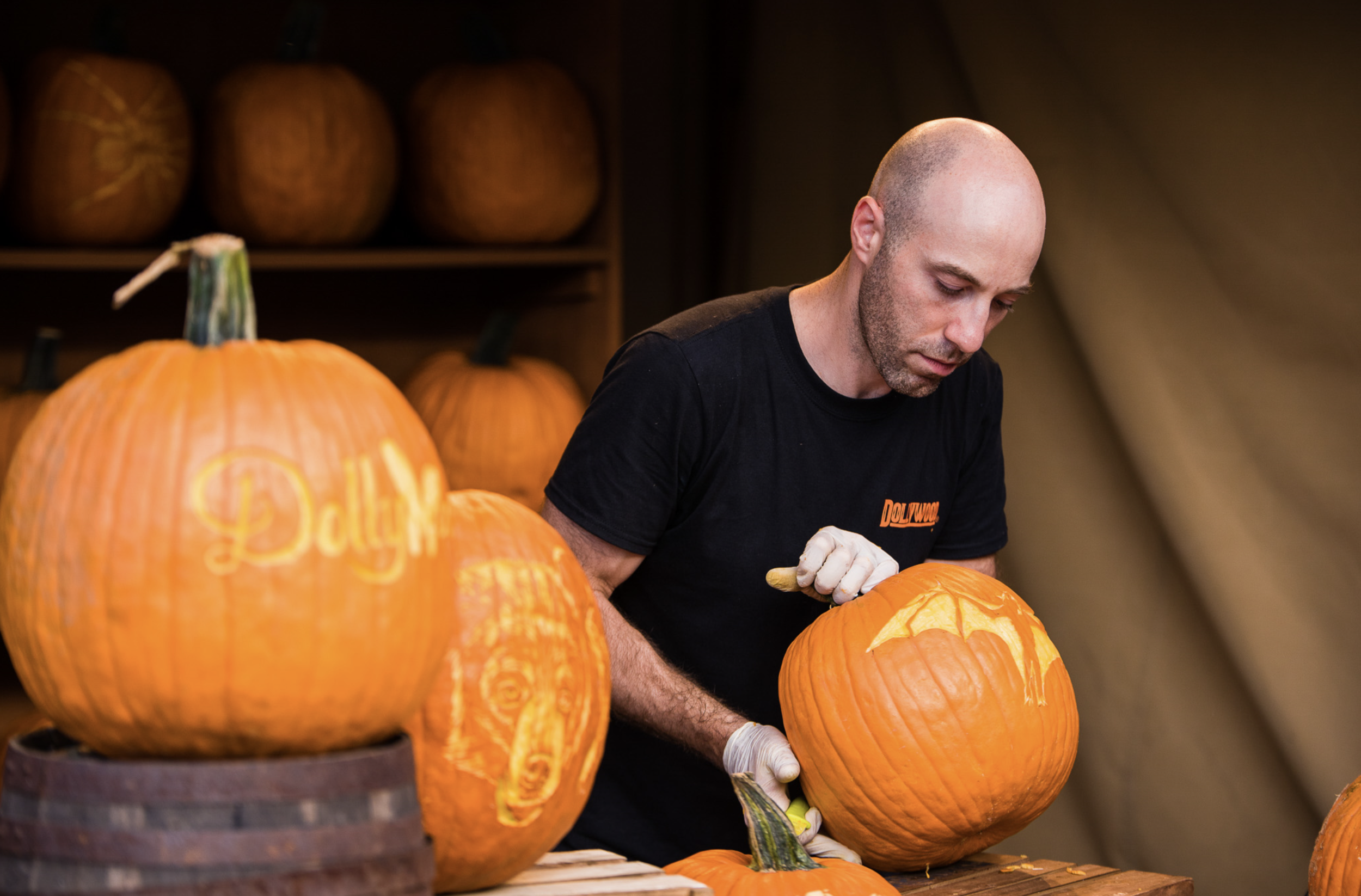Marc carving at Dollywood