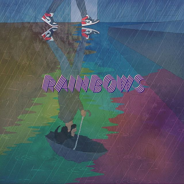 This is my favorite graphic @jjonnyshaw did for the project.  Rainbows video link in bio.  Single is also available on SoundCloud.