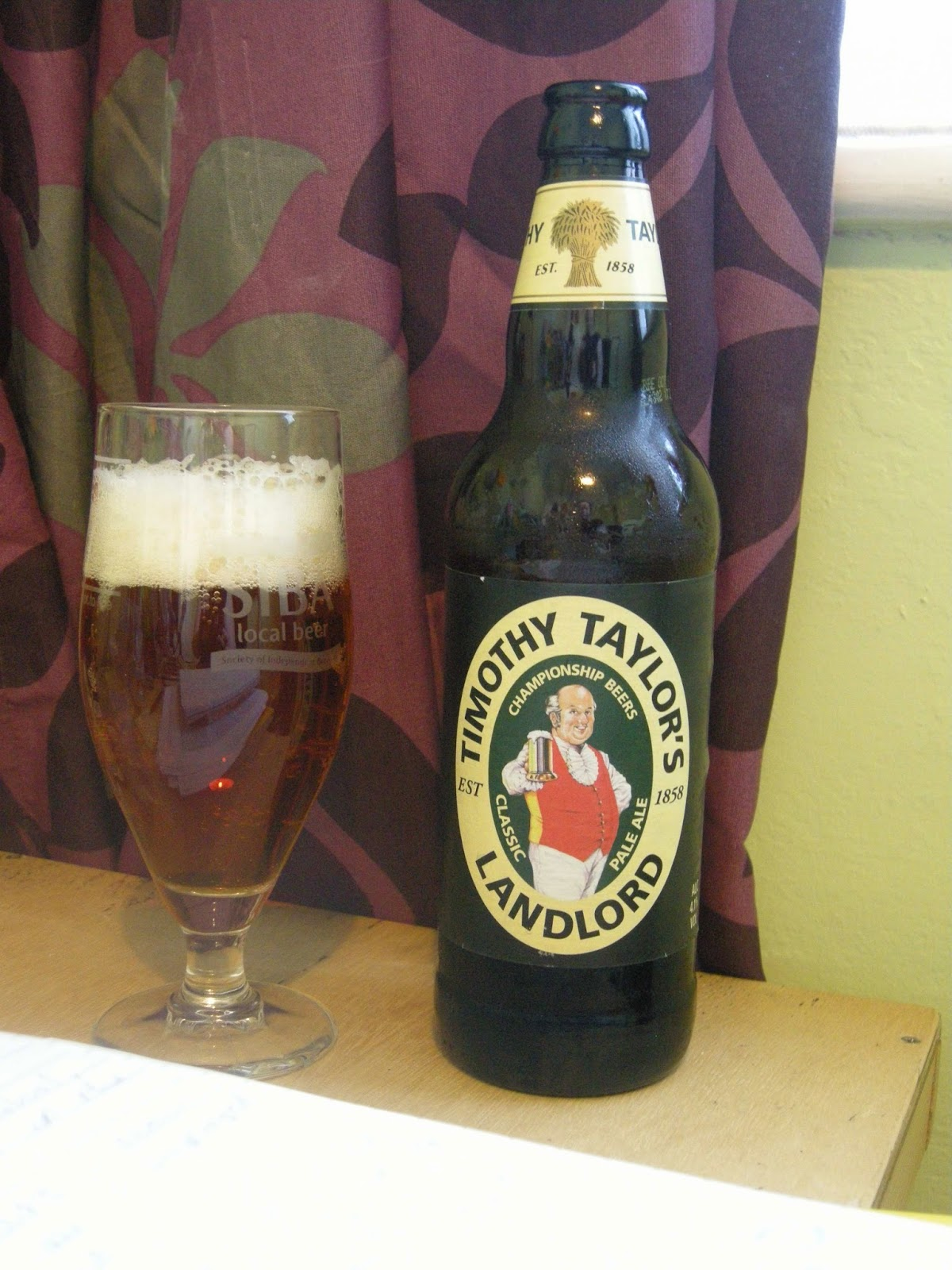 We sampled Timothy Taylor's Landlord (4.3%) - once a bitter and now a pale ale