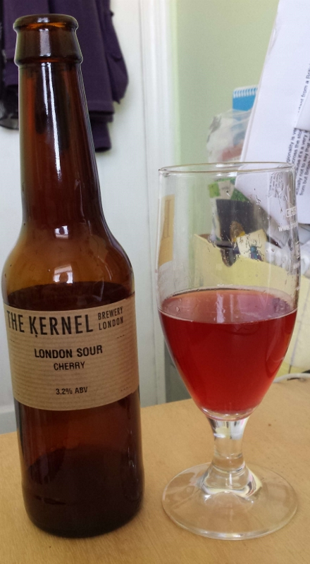 and Sophie tastes the Kernel's London Sour (3.2%) made with cherries.