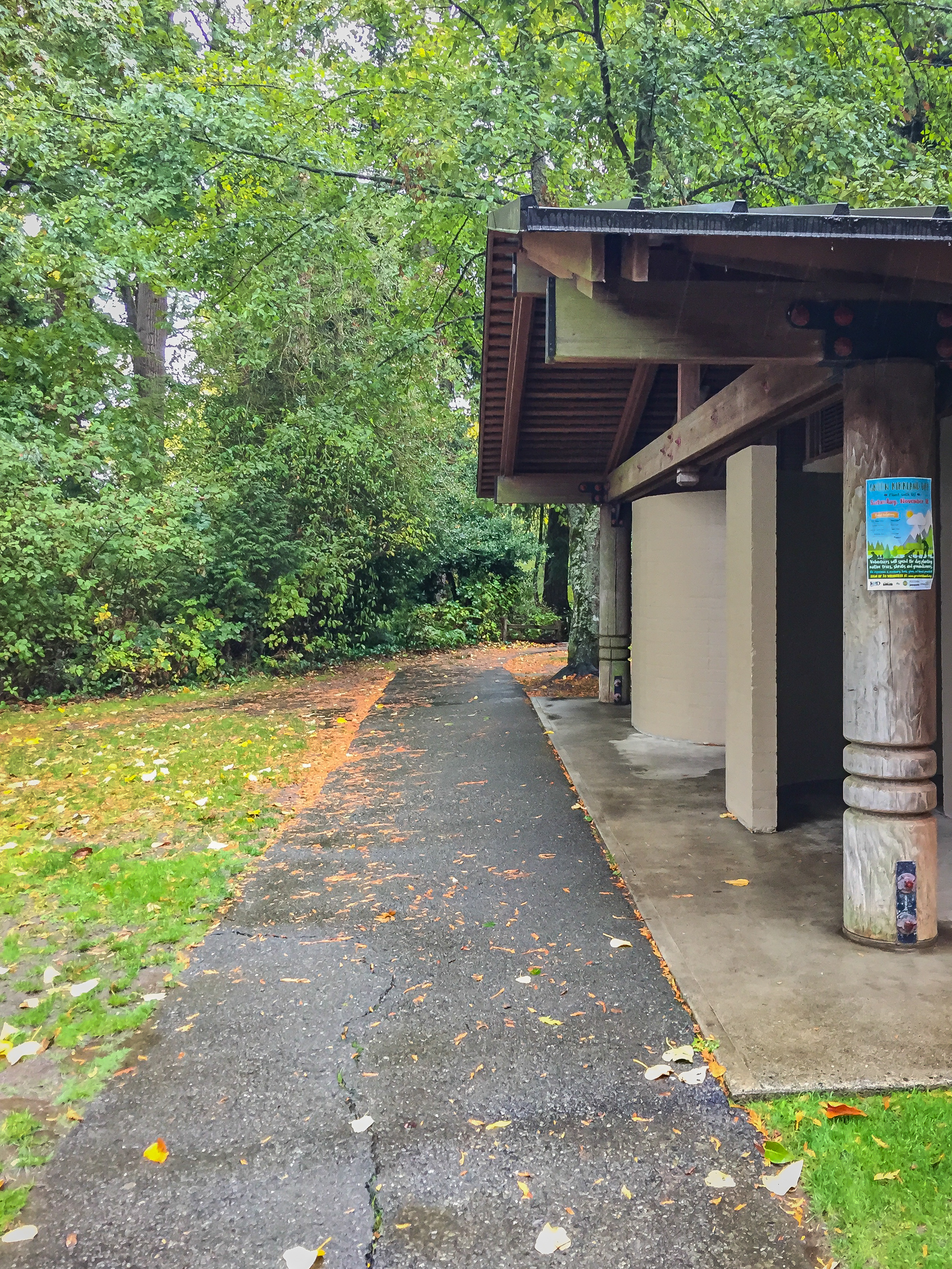 The start of the Beach Trail next to the restrooms