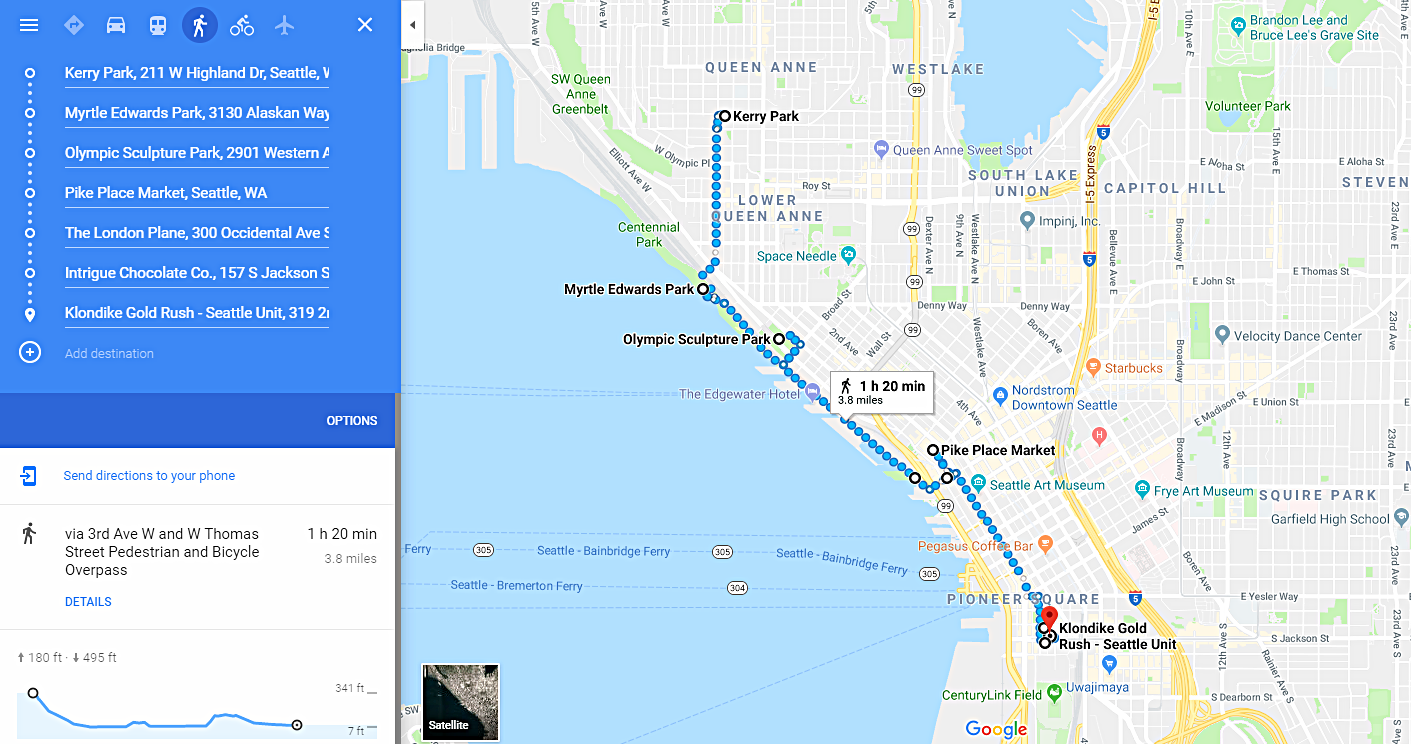 Click on the map to see the walking route in Google Maps.